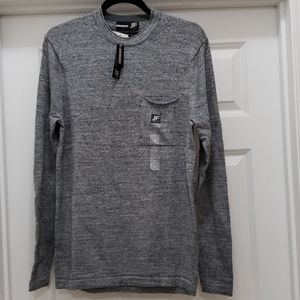 JF J.Ferrar Mens Sweaters Crewneck Size S Gray